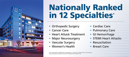 Nationally Ranked in 12 Specialties